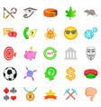 symbolize icons set cartoon style vector image