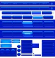 Web Navigation Menu And Buttons vector image