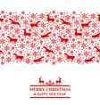 xmas deer red vector image