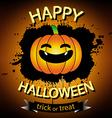 Happy halloween banner with pumpkin orange vector image