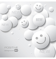 positive background vector image vector image