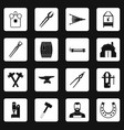 blacksmith icons set squares vector image