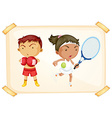 Sport boy and girl vector image vector image