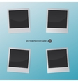 Retro Photo Frames on a blue background for your vector image