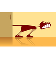 cat and door vector image