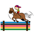 Olympics theme with equestrain vector image