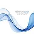 Abstract colored wave on white vector image