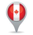 canada flag pointer vector image