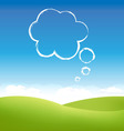 cloud fields vector image