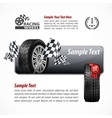 Racing banner Text vector image