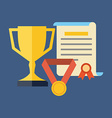 Rewards achievements awards concept Flat design vector image