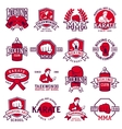 Set of cool fighting club emblems labels badges vector image