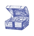Treasure Chest Hand Draw Sketch vector image