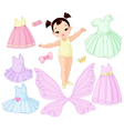 Baby Girl with Different Fairy Ballet and Princes vector image