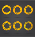 golden zeros segmented logo signs vector image