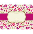 beige valentines background with hearts and gifts vector image
