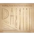 Drafting tools vector image