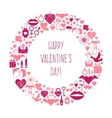 Valentines Day mosaic icons frame vector image