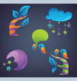 fantasy symbols and icons vector image vector image