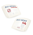 Bad news daily newspaper vector image