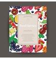 card with berries garden vector image