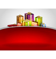 christmas background hill red vector image