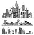 city and elements for design vector image
