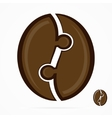 coffee bean logo vector image