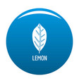 lemon leaf icon blue vector image