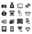 money finance banking credit card icons vector image