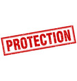 protection square stamp vector image