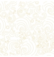 seamless Golden linear shapes pattern vector image