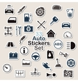 Set of auto icon stickers vector image