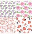 set rose pattern vector image