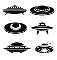 silhouettes of spaceships vector image