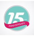 Template Logo 15 Anniversary vector image