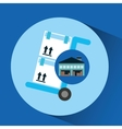 warehouse building trolley boxes delivery vector image