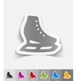 realistic design element skates vector image
