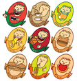funny faces vector image vector image