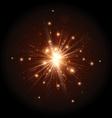 Orange firework flash vector image