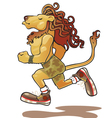 lion-athlete vector image vector image