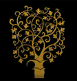 The golden tree symbol vector image