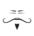 Chinese old man face with long mustache vector image