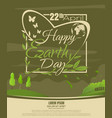 happy earth day beautiful spring landscape vector image