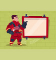 fireman leading training of alarm on board wearing vector image