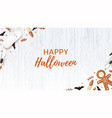 halloween web banner with sweets vector image