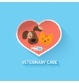 Veterinary heart symbol vector image