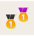 realistic design element medal vector image