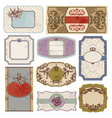 set of retro vintage labels vector image vector image