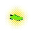 Football boot icon comics style vector image